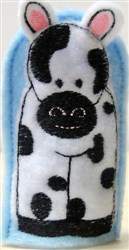 ITH Cow Finger Puppet embroidery design
