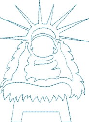 Baby Jesus Outline embroidery design
