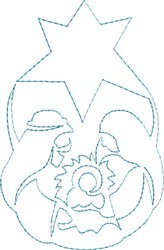 Holy Family Outlines embroidery design