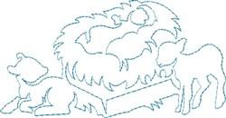 Manger Quilting Design embroidery design