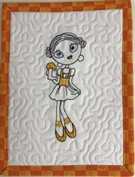Oktoberfest Diva Mug Rug 2 embroidery design