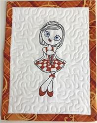 Oktoberfest Diva Mug Rug 10 embroidery design