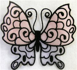 ITH FS Organza Butterly 1 embroidery design