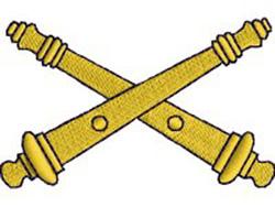 Field Artillery embroidery design