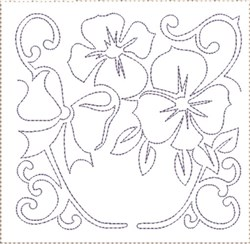 Pansy Quilt Block 5 embroidery design