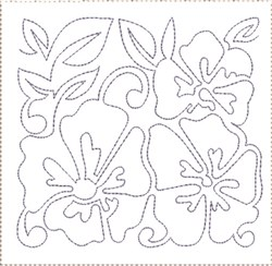 Pansy Quilt Block 8 embroidery design