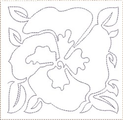 Pansy Quilt Block 12 embroidery design