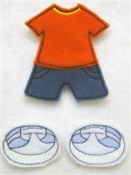 Felt Paperdoll Boys Shorts embroidery design