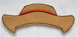 Felt Boy Paperdoll Cowboy Hat embroidery design