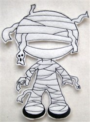 Felt Boy Paperdoll Mummy Costume embroidery design