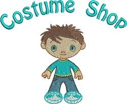 Felt Boy Costume Shop embroidery design