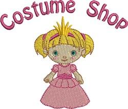 Felt Girl Costume Shop embroidery design
