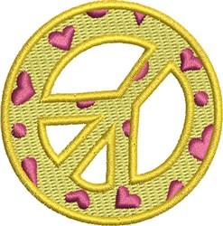 Love Peace Symbol embroidery design