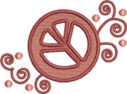 Fancy Peace Sign embroidery design