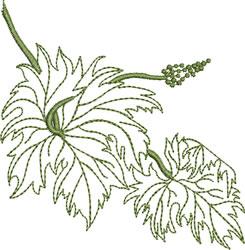 Greenwork Grape Leaves embroidery design