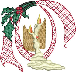 Melting Christmas Candles embroidery design