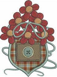 Floral Pocket Applique embroidery design
