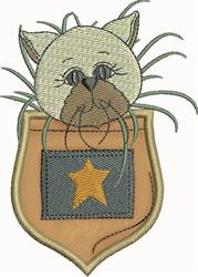 Siamese Pocket Applique embroidery design