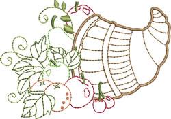 Cornucopia With Fruit embroidery design