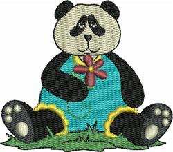 Panda Baby Girl embroidery design