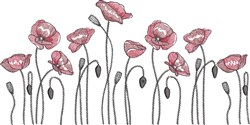 Poppy Field embroidery design