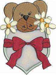 Tawny Pup Pocket Applique embroidery design