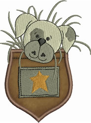 Patches Pocket Applique embroidery design