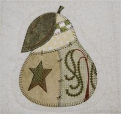Prim Pear Quilt Block embroidery design