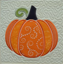 ITH Perfect Pumpkin Quilt Block embroidery design