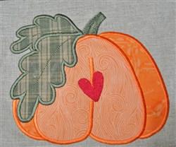 Pumpkin Applique embroidery design