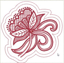 Jacobean Quilt Block embroidery design