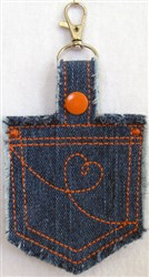 ITH Denim Key Fob 2 embroidery design