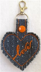 ITH Denim Key Fob 3 embroidery design