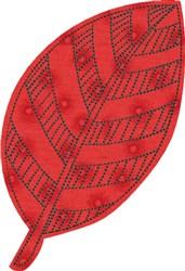 Raw Edge Leaf Applique 4 embroidery design
