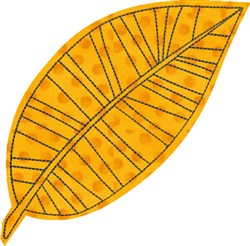 Raw Edge Leaf Applique 6 embroidery design