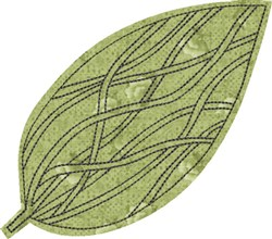 Raw Edge Leaf Applique 9 embroidery design