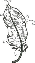 Refined Feather 4 embroidery design