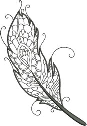 Refined Feather 5 embroidery design