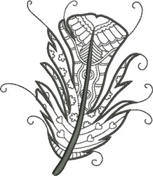 Refined Feather 6 embroidery design