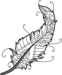 Refined Feather 10 embroidery design