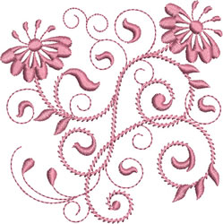 Rhapsody in Pink embroidery design