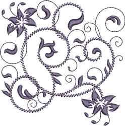 Rhapsody in Purple embroidery design
