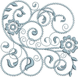 Rhapsody in Periwinkle embroidery design