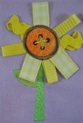 ITH Ribbon Applique Daisy embroidery design