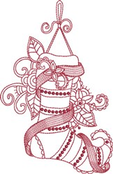 Embroidery Beaded Stocking embroidery design