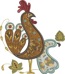 Proud Russian Rooster embroidery design