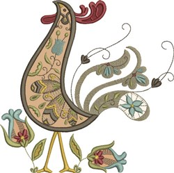Russian Rooster Art Deco embroidery design