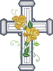 Double Floral Cross embroidery design