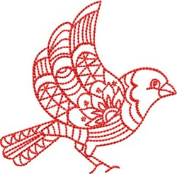 Redwork Mockingbird embroidery design