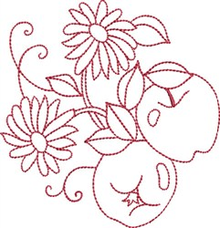 Redwork Apples embroidery design